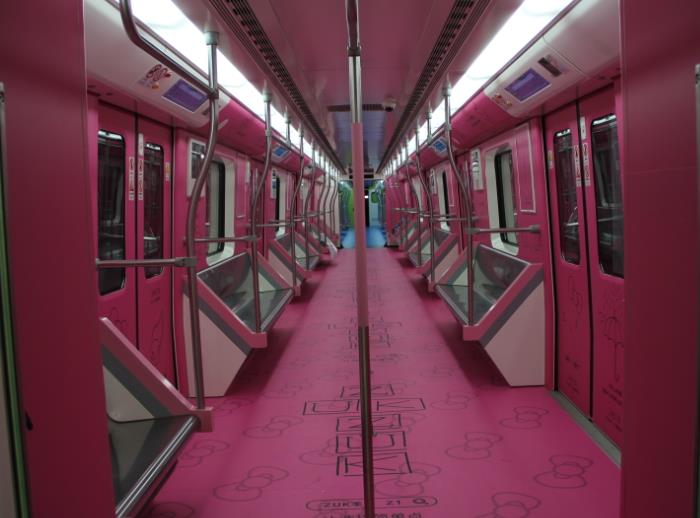 地铁2号线-粉红色